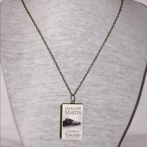 ‼️SALE‼️Game of Thrones Tiny Book Pendant Necklace